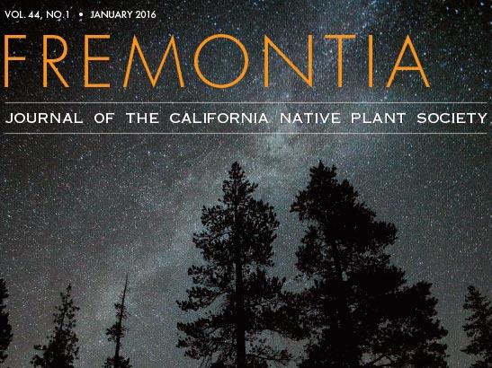 Fremontia Volume 44 Number 1 cover