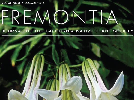 Fremontia Volume 44 Number 3 cover